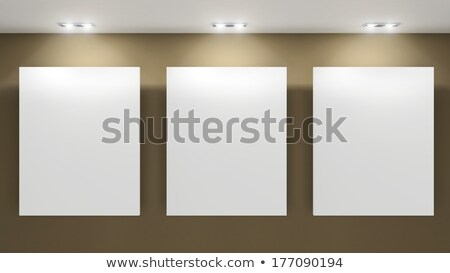 Empty frames on grey wall in gallary of  museum interior Stock photo © Victoria_Andreas