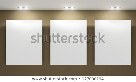 vacío · marcos · gris · pared · museo · interior - foto stock © Victoria_Andreas