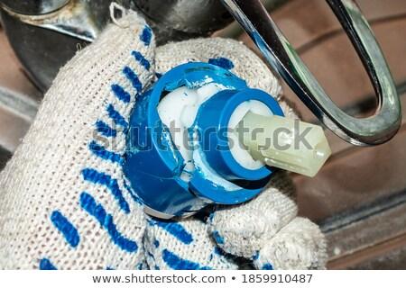 водопроводчика замена человека пейзаж синий Сток-фото © photography33