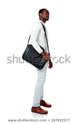 widoku · poważny · Afryki · mężczyzna · odizolowany - zdjęcia stock © stockyimages