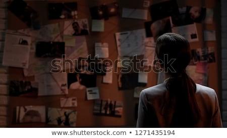 Assassino senhora perigoso insano mulher caminhada Foto stock © icefront