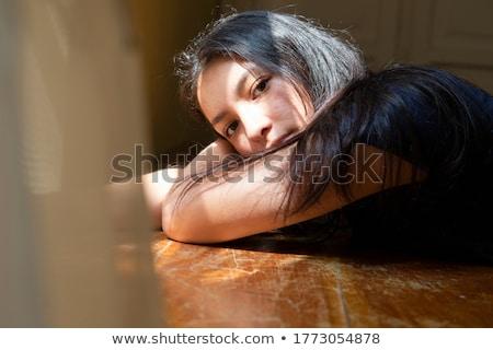 sad young peruvian woman stock photo © ildi