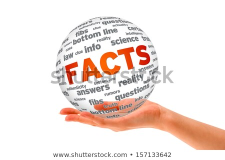 Hand holding a Facts 3D Sphere Stock photo © kbuntu