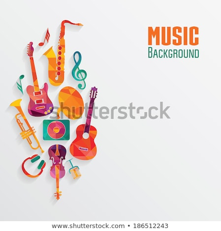 abstract colorful musical mic stock photo © pathakdesigner