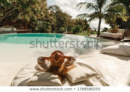 孤独 青 砂浜 水 太陽 夏 ストックフォト © franky242