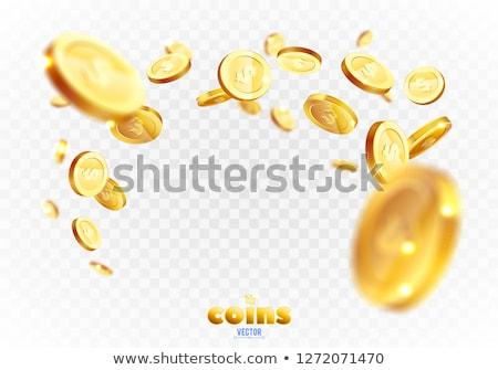 argent · dollar · pièces · brillant · une · isolé - photo stock © pakhnyushchyy
