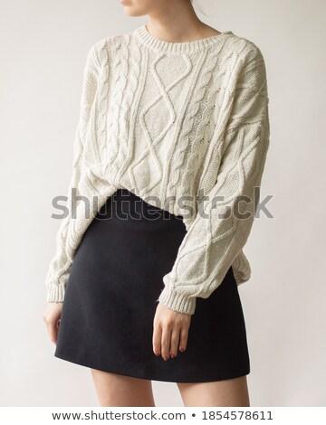 Vintage · кавказский · девушки · черный · одежды - Сток-фото © gromovataya