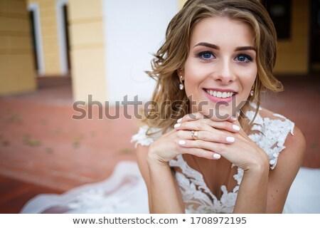 невеста · белый · подвенечное · платье · романтические · модель · изолированный - Сток-фото © gromovataya
