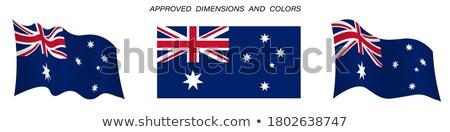 щит · флаг · Австралия · фон · синий · путешествия - Сток-фото © perysty