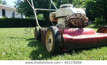 Old Lawn Mower stock photo © haiderazim