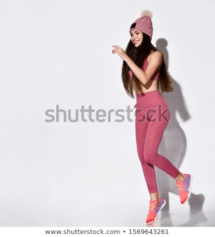 moda · mulher · corrida · estúdio - foto stock © gromovataya