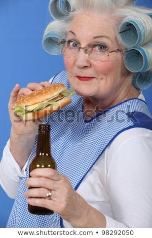 bewusstlos · Frau · stehen · Waschraum · betrunken · bar - stock foto © photography33