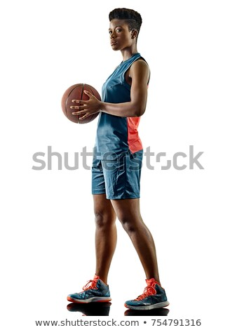 gericht · mooie · vrouw · atleet · permanente · basketbal - stockfoto © photography33