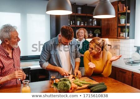 otthoni · főzés · tyúk · előkészített · vacsora · alapvető · konyha - stock fotó © MojoJojoFoto