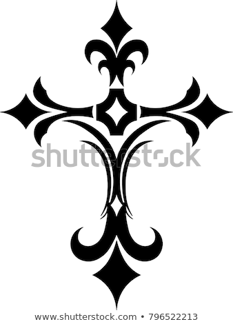 tribal cross illustration stock photo © creative_stock