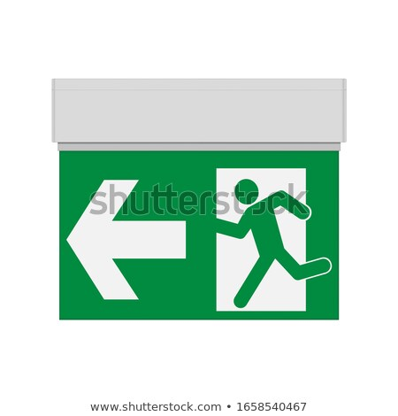 Square Exit sign isolated on a white Stock photo © shutswis