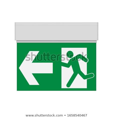 Placu zakończyć się odizolowany biały drogowego podpisania Zdjęcia stock © shutswis