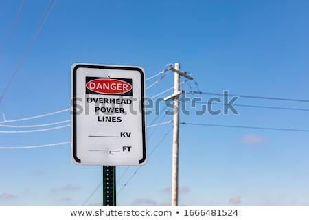 Poder linha céu aço eletricidade tipo Foto stock © vaeenma