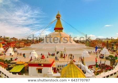 vadi · Nepal · Bina · uzay · mavi · seyahat - stok fotoğraf © yuliang11