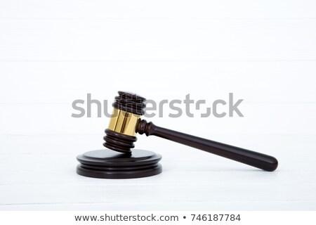 Młotek dźwięku biały prawa sprawiedliwości sędzia Zdjęcia stock © wavebreak_media