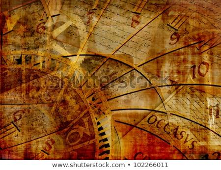 tiempo · reloj · palabras · blanco · comunicación - foto stock © ivelin