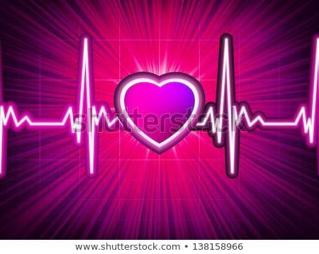 emberi · szív · normális · ritmus · anatómia · elektrokardiogram - stock fotó © beholdereye