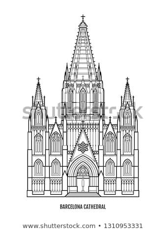 католический Барселона собора Испания каменные дракон Сток-фото © billperry