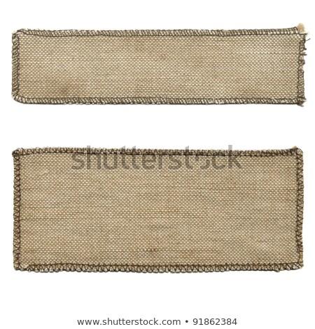 Cotton Fabric Texture - Beige with Seam Stock photo © eldadcarin