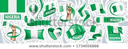 Vektör Nijerya ülke ayarlamak afişler iş Stok fotoğraf © gubh83