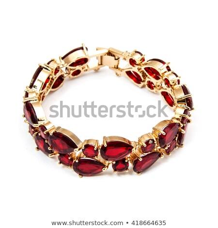 beautiful of the bracelet gemstone isolated on white  Stock photo © JohnKasawa