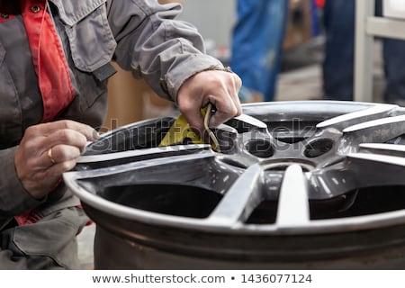 neumático · aleación · rueda · gris · 3d · coche - foto stock © ollietaylorphotograp