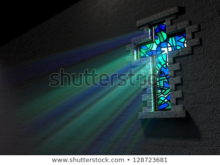 The Crucifixion stained glass window  Stock photo © Snapshot