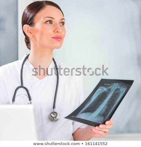 portrait · Homme · médecin · poitrine · xray - photo stock © HASLOO