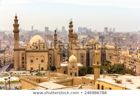 Kair Egipt niebo budynku miasta ściany Zdjęcia stock © TanArt