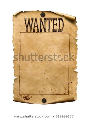 Keresett poszter illusztráció háttér rajz pergamen Stock fotó © lenm