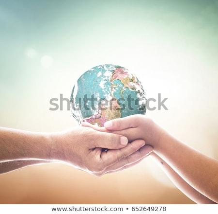 artificial · terra · África · branco · azul - foto stock © inxti