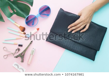 klasszikus · női · cipők · fekete · kézitáska · kuplung · izolált - stock fotó © alekleks