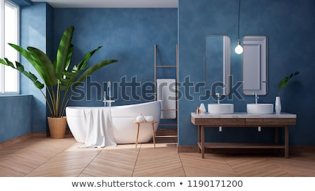 Delicieux #3166177 Modern Blue Bathroom By ...
