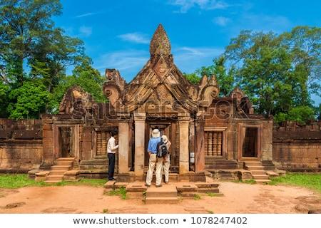 banteay srei temple ancient ruins stock photo © tuulijumala
