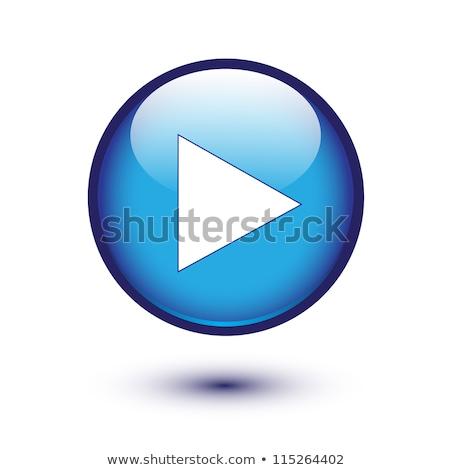Stock photo: Next arrow icon glossy blue button