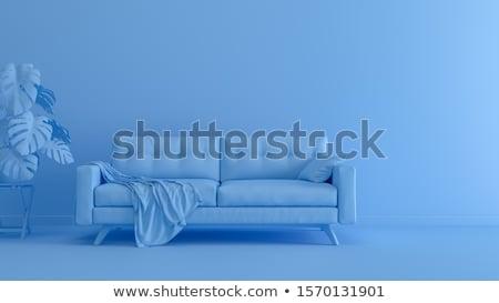 современных · мебель · дизайна · два · цветами · гостиной - Сток-фото © get4net