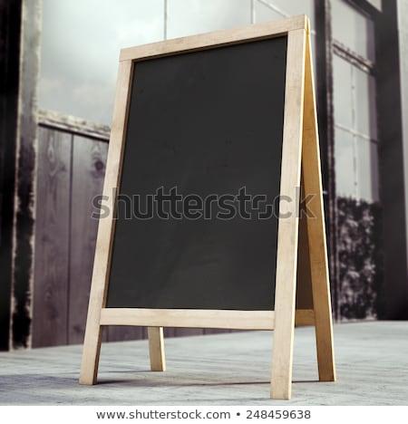 szakács · étterem · poszter · menü · illusztráció · boldog - stock fotó © davidarts