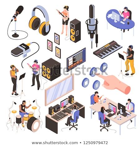 Orador gráfico ecualizador pop música de audio Foto stock © stuartmiles