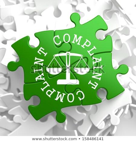 complaint concept on green puzzle pieces stock photo © tashatuvango
