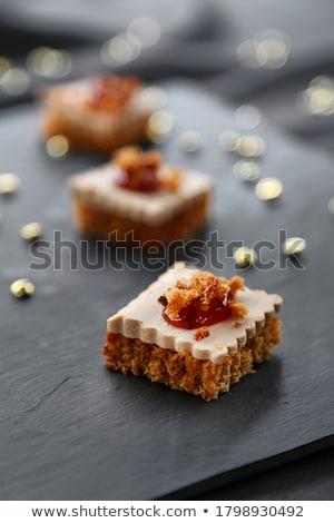 gingerbread with foie gras stock photo © m-studio