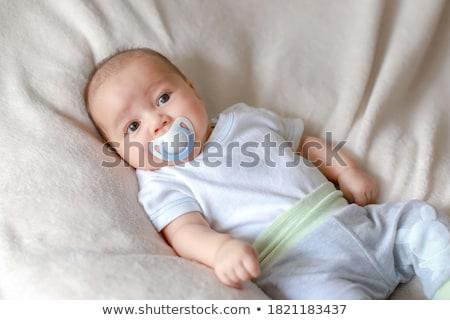 Aranyos csecsemő baba portré imádnivaló fehér Stock fotó © williv