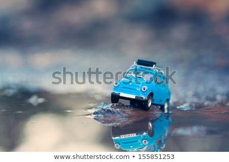 Miniature travelling car with luggage on top Stock photo © Kirill_M