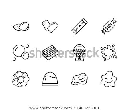 Nyálka ikon gyűjtemény kép művészet zöld grafikus Stock fotó © cteconsulting