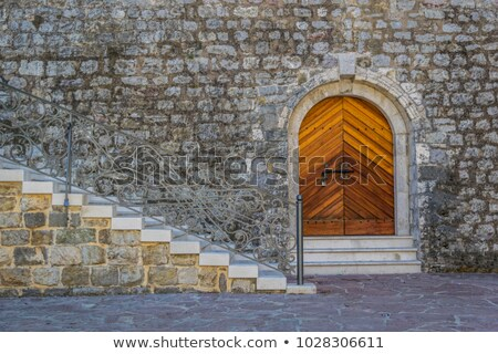 Stairs to entrance of a church Stock photo © w20er