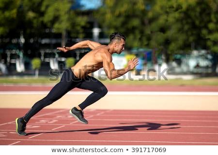 Running bodybuilder stock photo © Concluserat
